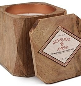 redwood & amber wood candle