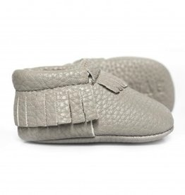 sweet n swag stone grey baby moccasins