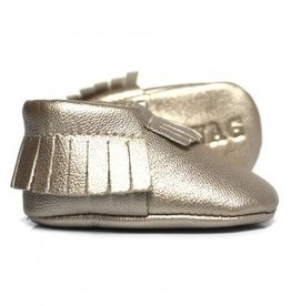 sweet n swag champagne platinum baby moccasins