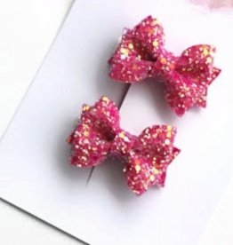 her joyful studio set of glitter pigtail bows