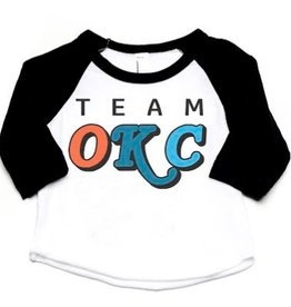 LivyLu kids team okc baseball tee