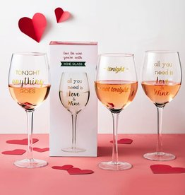 two's company wine glass in gift box