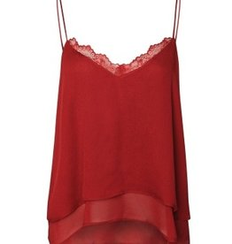 dex double layer cami with lace detail