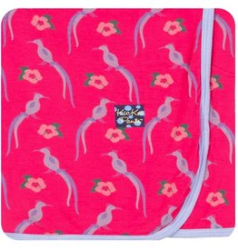 kickee pants birds of paradise swaddling blanket