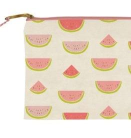 slant watermelon canvas zipper bag