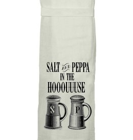 twisted wares salt and peppa kitchen towel