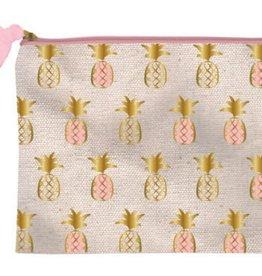 slant pineapple canvas zipper bag