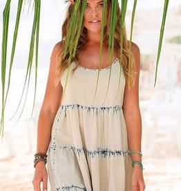 vintage havana denim vintage wash chambray tiered dress FINAL SALE