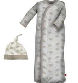 Magnificent Baby magnetic counting sheep sack gown + hat set