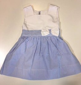 sweet dreams blue stripe bow dress