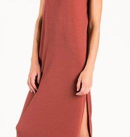 the hanger rust maxi dress