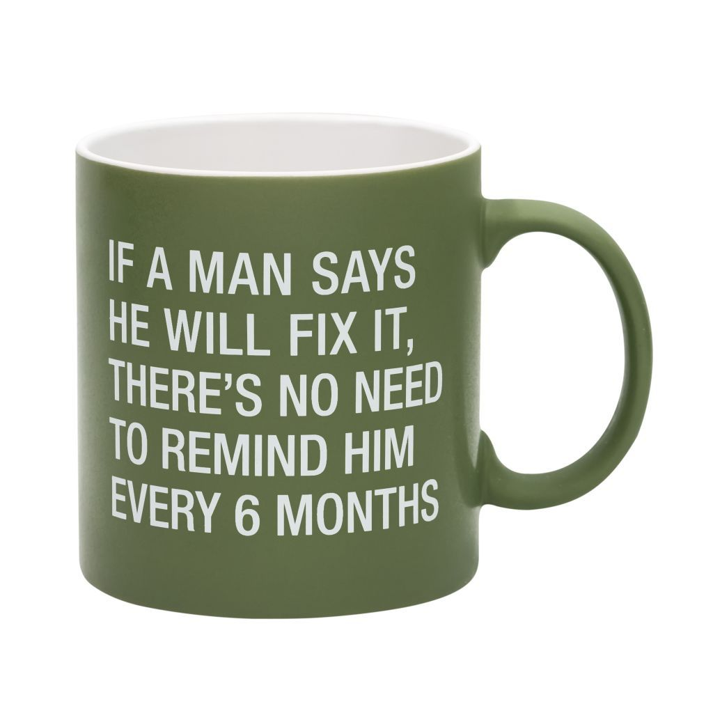 no need to remind him mug