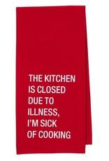 kitchen is closed tea towel