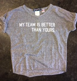 LivyLu my team is better than yours rolled sleeve tee FINAL SALE