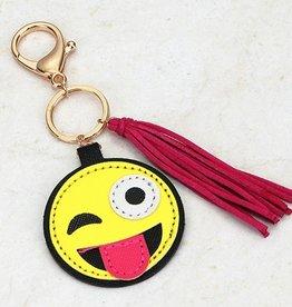 silly emoji keychain