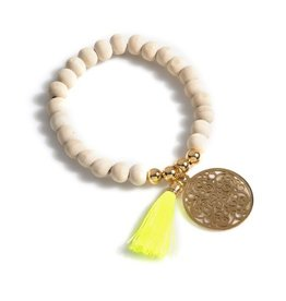 shiraleah yellow bali bracelet