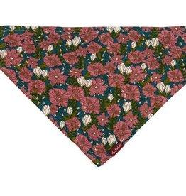 milkbarn teal floral kerchief bib