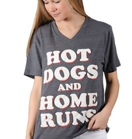 hot dogs and home runs tee