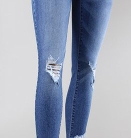 flying monkey cropped fray hem skinny jean