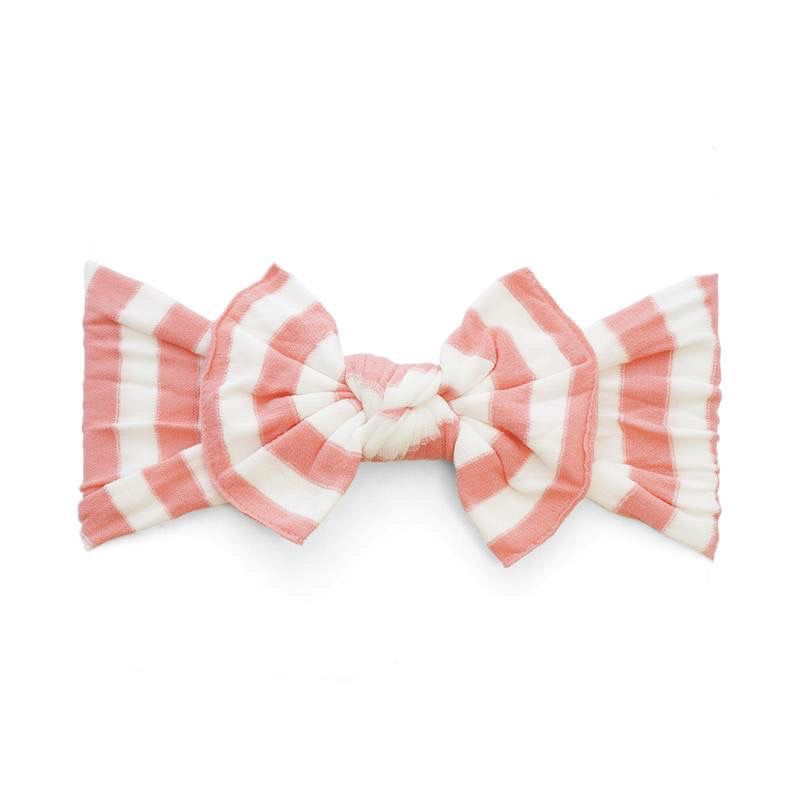 Baby Bling coral stripe patterned knot