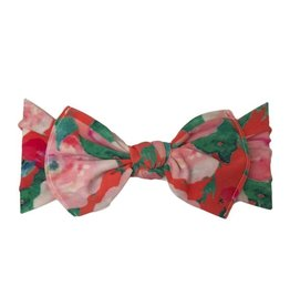 Baby Bling watercolor floral coral printed knot headband