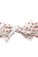 Baby Bling ditsy vintage floral white printed knot headband