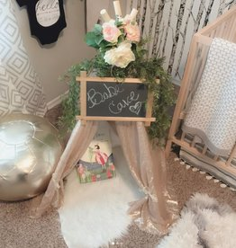 little brave hearts champagne sequin nursery teepee