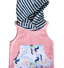 luluandroo blush unicorn sleeveless hoodie FINAL SALE