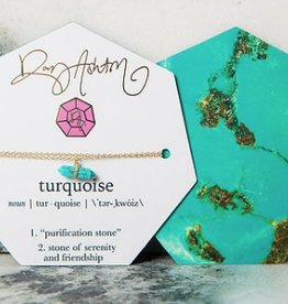 rory ashton turquoise tiny gem necklace