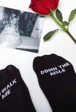 to walk me down the aisle socks