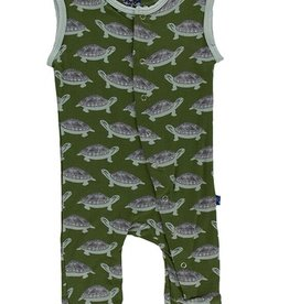 kickee pants moss turtle print tank coverall