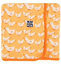 kickee pants fuzzy bee ducks swaddling blanket