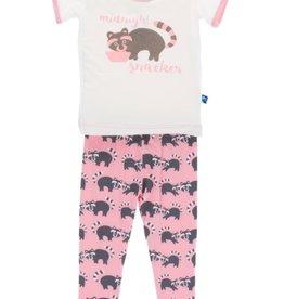 kickee pants lotus raccoon short sleeve pajama set