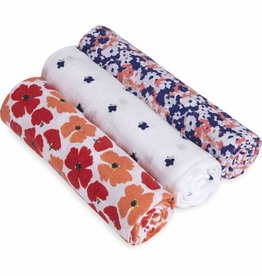 aden+anais flora 3 pack classic swaddles