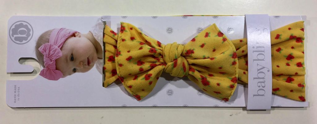 Baby Bling mustard yellow ditsy floral headband