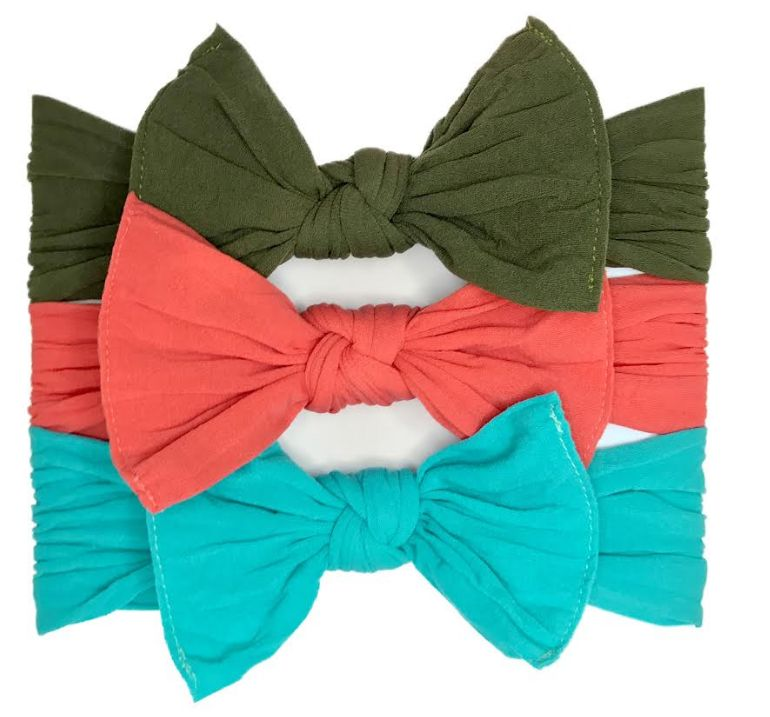 Baby Bling turquoise classic knot headband
