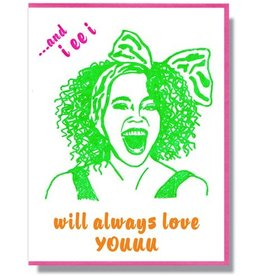 Whitney Houston Greeting Card