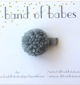 band of babes pom clip grey