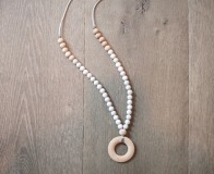 Bella Tunno grey marble ring teething necklace