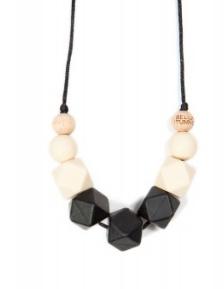 Bella Tunno smoky black teething necklace