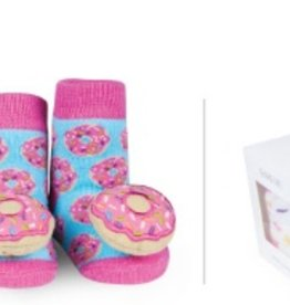 waddle donut rattle socks