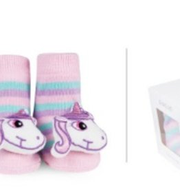 waddle unicorn rattle socks