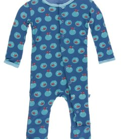 kickee pants twilight fishbowl print coverall with snaps