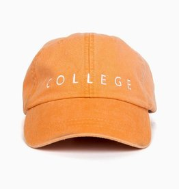 LivyLu orange w/ white college cap FINAL SALE