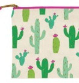 slant cactus cosmetic bag