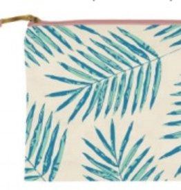 slant palm leaves cosmetic bag