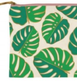 slant Monsterra Leaves Cosmetic Bag