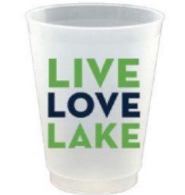 slant 16oz live love lake 8ct frost flex cups