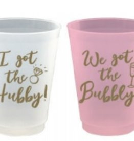 slant 16oz hubby/bubbly 8ct frost flex cups
