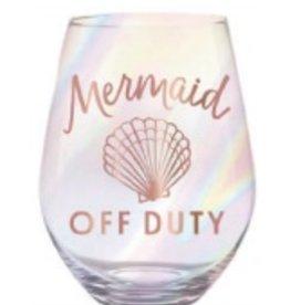 slant jumbo mermaid off duty 30oz stemless wine glass